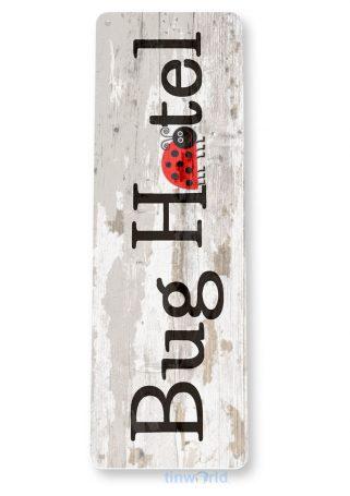 tin sign c792 bug hotel lady bug sign cottage farm garden tinworld tinsign_com