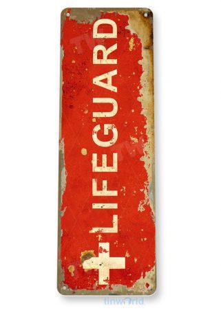 tin sign c859 lifeguard sign lifeguard on duty sign beach stand pool metal tin sign tinworld tinsign_com