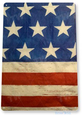 tin sign d044 american flag sign tinworld tinsign_com