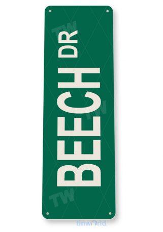 tin sign d046 beech-dr street sign tinworld tinsign_com