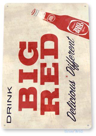 tin sign d047 big red sign tinworld tinsign_com