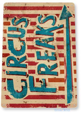 tin sign d052 circus freaks sign tinworld tinsign_com