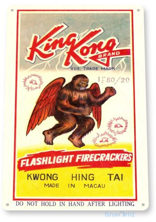 tin sign d063 king kong fireworks sign tinworld tinsign_com