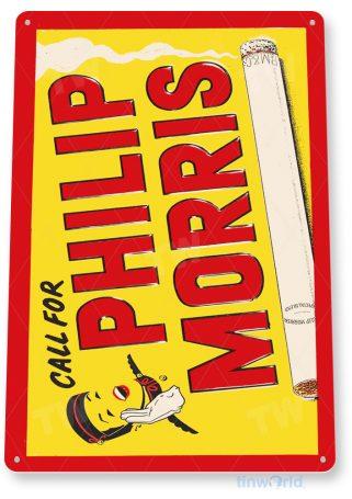 tin sign d071 philip morris cigarettes sign tinworld tinsign_com