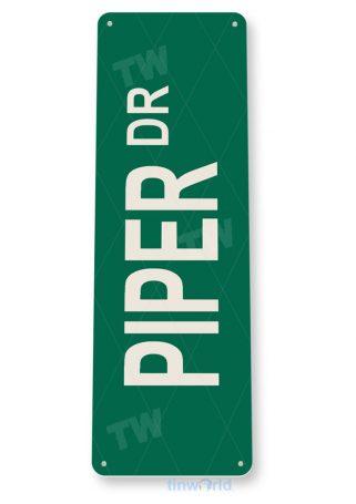 tin sign d073 piper street sign tinworld tinsign_com