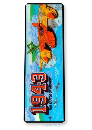 tin sign tin sign a199 1943 midway arcade shop game room retro console marquee tinworld tinsign_com