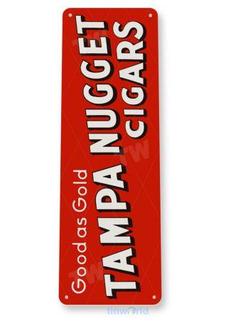 tin sign tin sign c354 tampa nugget cigars retro tobacco smoke cigar bar shop sign tinworld tinsign_com