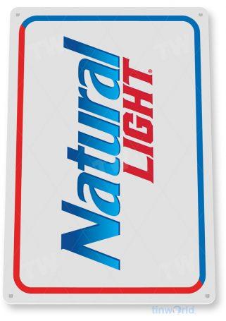 d098 natural light beer sign tinworld tinsign_com