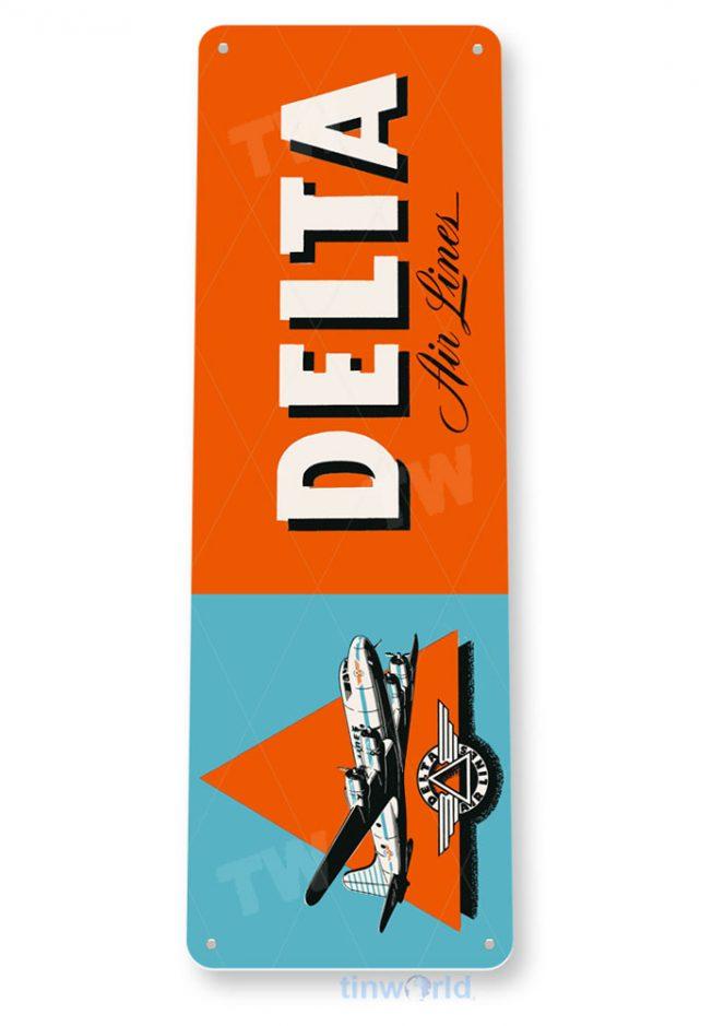 d079 delta retro airline aviation sign tinworld tinsign_com
