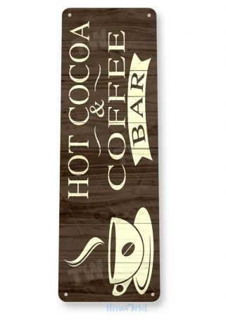 d092 hot cocoa & coffee bar sign tinworld tinsign_com