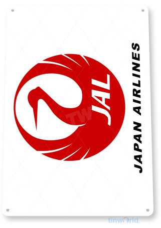 d094 japan airlines retro airline aviation sign tinworld tinsign_com