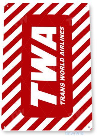 d101 twa retro airline aviation sign tinworld tinsign_com