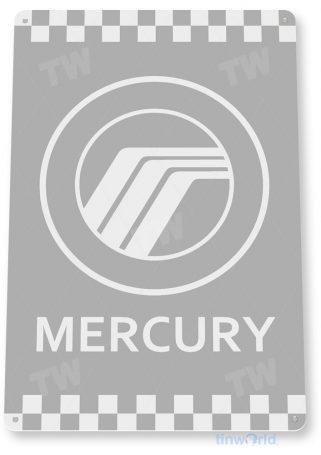 d104 mercury retro automobile sign tinworld tinsign_com
