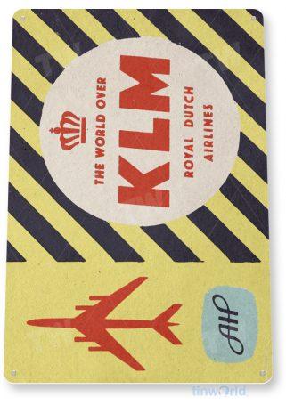 d105 klm retro airline aviation sign tinworld tinsign_com
