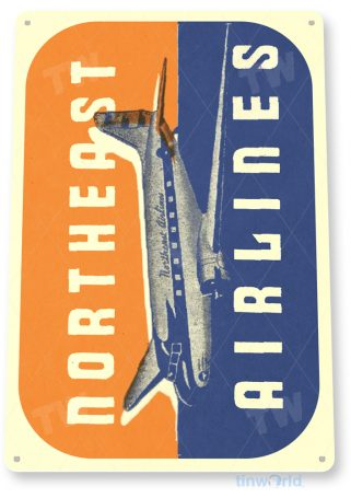 d107 northeast airlines retro airline aviation sign tinworld tinsign_com