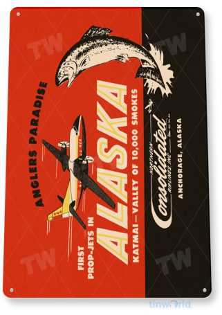 d110 alaska airlines retro airline aviation sign tinworld tinsign_com