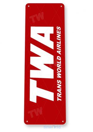 d121 twa retro airline aviation sign tinworld tinsign_com