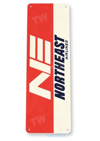 d124 northeast airlines retro airline aviation sign tinworld tinsign_com
