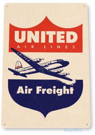 d125 united retro airline aviation sign tinworld tinsign_com