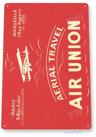 d130 air union retro airline aviation sign tinworld tinsign_com