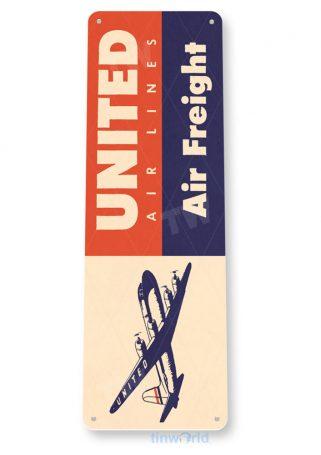 d137 united retro airline aviation sign tinworld tinsign_com