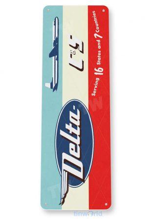 d142 delta c-s2 retro airline aviation sign tinworld tinsign_com