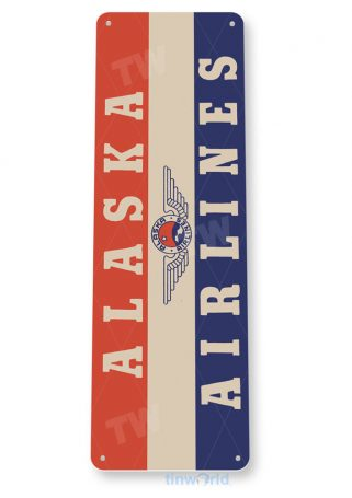 d144 alaska airlines retro airline aviation sign tinworld tinsign_com