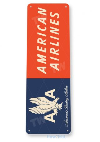 d145 american airlines retro airline aviation sign tinworld tinsign_com