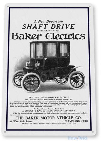 d146 baker electrics retro automobile sign tinworld tinsign_com