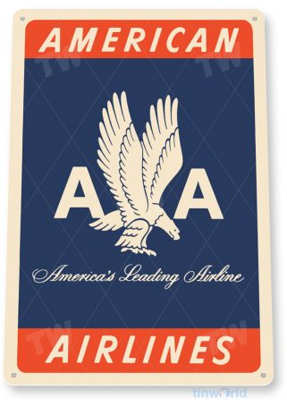 d148 american airlines retro airline aviation sign tinworld tinsign_com