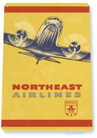 d154 northeast airlines retro airline aviation sign tinworld tinsign_com