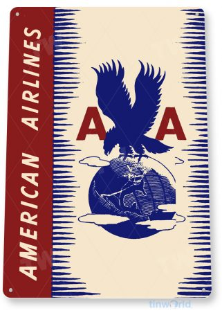 d155 american airlines retro airline aviation sign tinworld tinsign_com