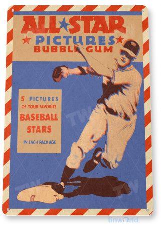 d161 all star bubble gum sign tinworld tinsign_com