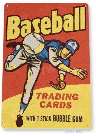 d166 baseball cards bubble gum tinworld tinsign_com
