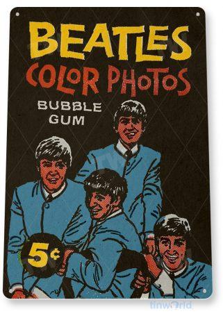 d167 beatles bubble gum sign tinworld tinsign_com