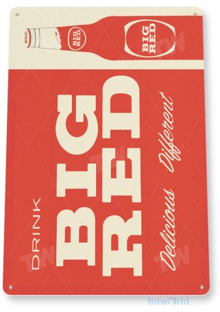 d169 big red sign tinworld tinsign_com