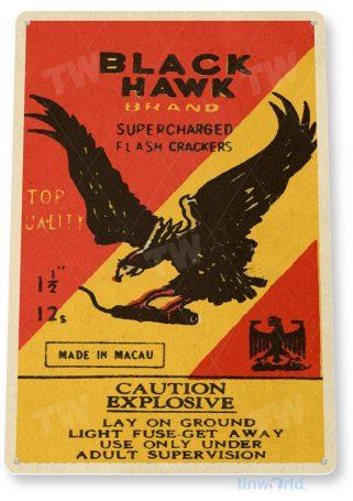 d171 black hawk fireworks sign tinworld tinsign_com