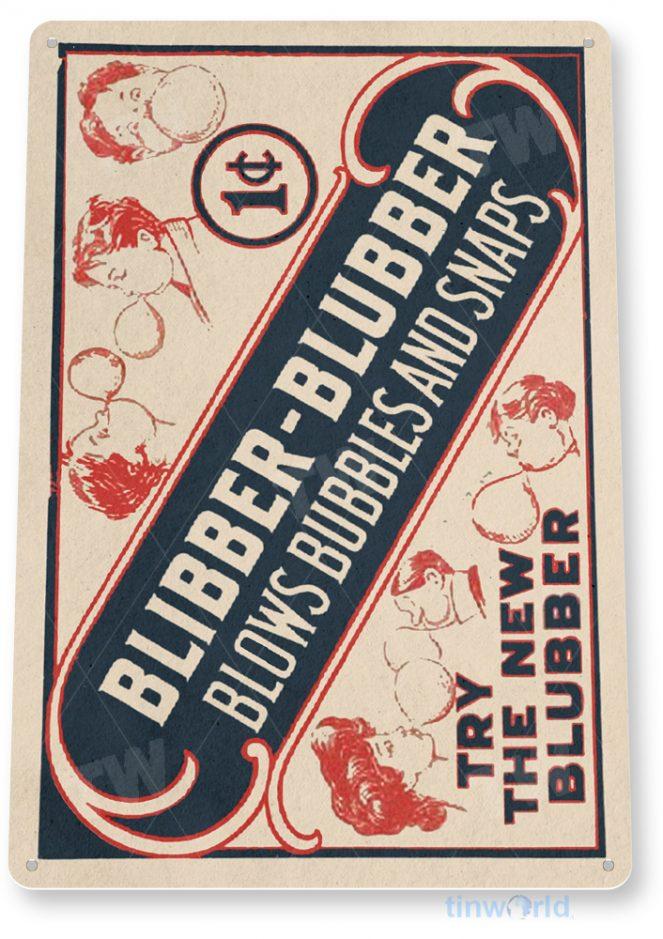 d172 blibber blubber gum sign tinworld tinsign_com