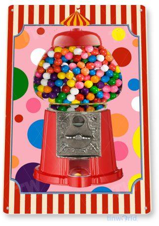 d175 bubble gum machine sign tinworld tinsign_com