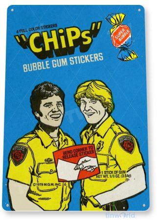 d179 chips bubble gum sign tinworld tinsign_com