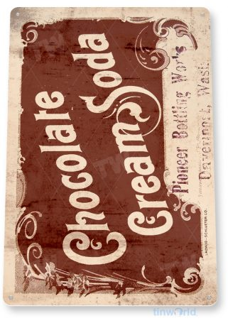d180 chocolate cream soda sign tinworld tinsign_com