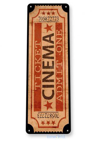 d181 cinema movie ticket sign tinworld tinsign_com