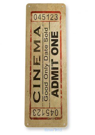 d182 cinema movie ticket sign tinworld tinsign_com