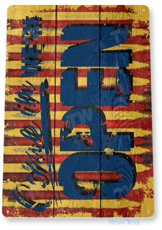 d183 circus open sign tinworld tinsign_com