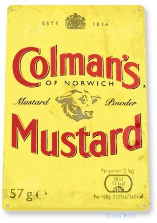 d190 colman's mustard sign tinworld tinsign_com