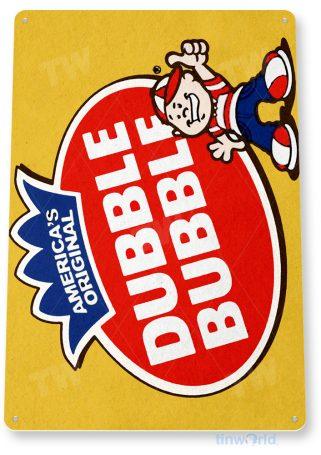 d196 double bubble gum sign tinworld tinsign_com