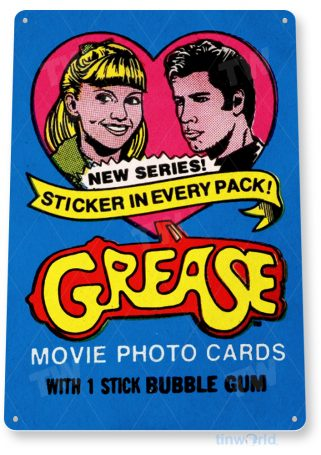 d199 grease bubble gum sign tinworld tinsign_com