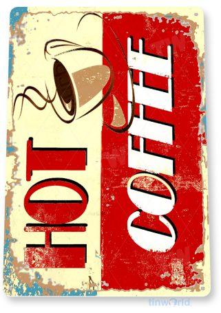 d202 hot coffee sign tinworld tinsign_com