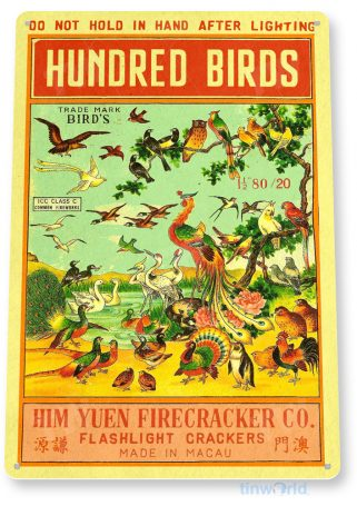d203 hundred birds fireworks sign tinworld tinsign_com