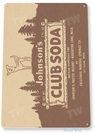 d206 johnson's club soda sign tinworld tinsign_com